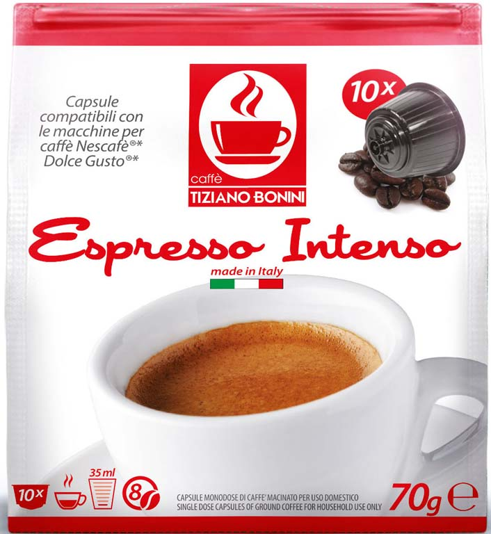 intenso kaffeekapseln 10 st ck kompatible kaffeekapseln von caff bonini italien kompatibel. Black Bedroom Furniture Sets. Home Design Ideas